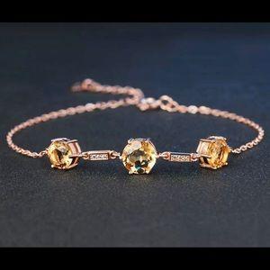 Citrine & Rose Gold Plated Bracelet 101790